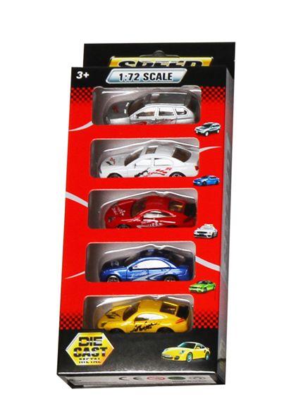 Caja 5 coches metálicos 1:72