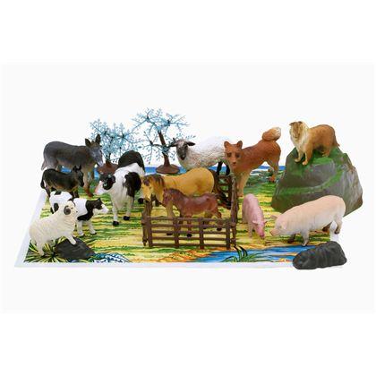 Cubo animales granja 22 piezas