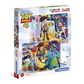 Puzzle toy story 4 de 2x20 piezas