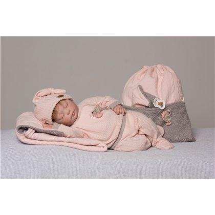 Reborn natali conjunto punto rosa y gris con gorri - 58887726(1)