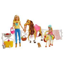 Barbie y chelsea con caballos