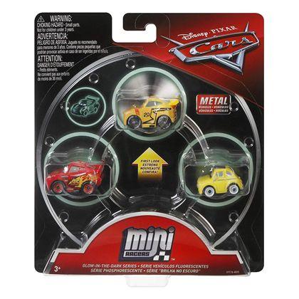 Pack 3 cars mini racers mcqueen luigi cruz storm - 24561629