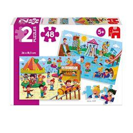 Puzzle 2x48 niños jugando