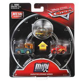 Pack 3 cars mini racers gold ramone