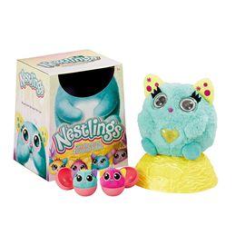 Nestlings azul mascota interactiva