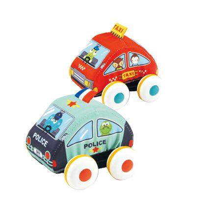 2 coches policia y taxi retroficcion - 87805282(1)