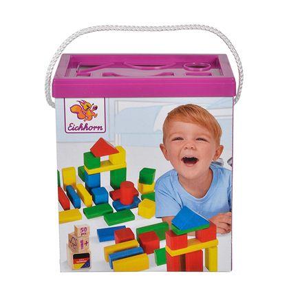 Cubo 50 bloques de madera - 33350161