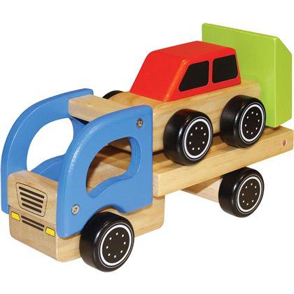 Camion transportador con coche madera - 95606905