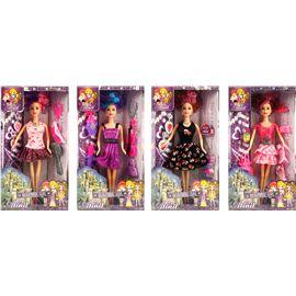 4 muñecas con 21 accesorios