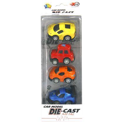 Caja 4 coches 6.5 cm - 87867814