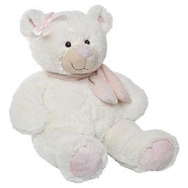 Oso bufanda marfil rosa 50 cm