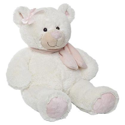 Oso bufanda marfil rosa 50 cm - 01991704