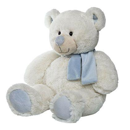 Oso blanco bufanda marfil celeste 50 cm - 01991703