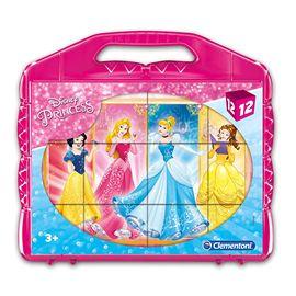 Rompecabezas princesas 12 cubos