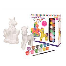 Pinta tu unicornio y caballo