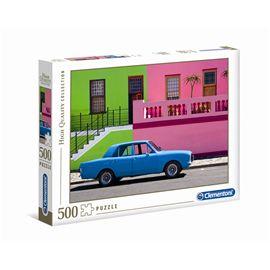 Puzzle 500 the blue car
