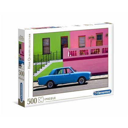 Puzzle 500 the blue car - 06635076