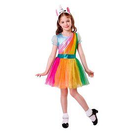 Disfraz unicornio colorido 7-9 años
