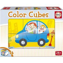 Color cubes 6 vehiculos