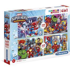 Puzzle 2x20+2x60 superhero