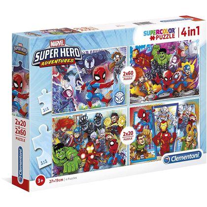 Puzzle 2x20+2x60 superhero - 06624769