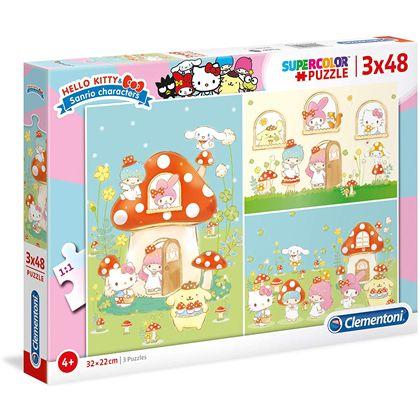 Puzzle 3x48 hello kitty - 06625246