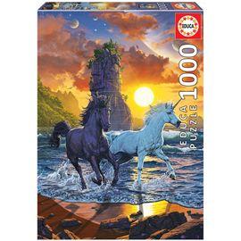 Puzzle 1000 unicorns on the beach