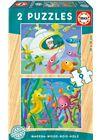 Puzzle 2x9 animales acuaticos - 04017617