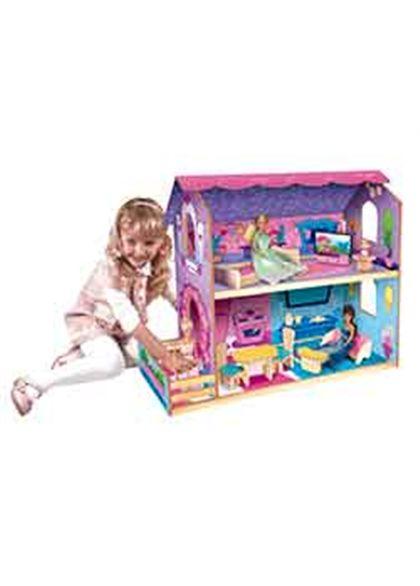 Casa de muñecas de madera con muebles - 95600381(2)