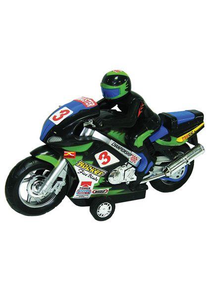 Moto con motorista fricción 28 cm - 89814499