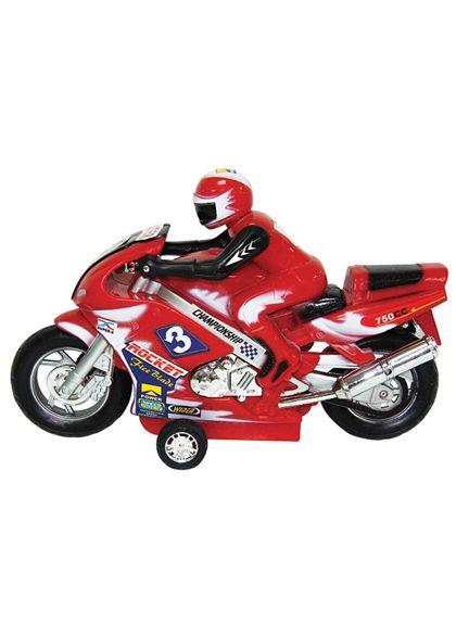 Moto con motorista fricción 28 cm - 89814499(1)