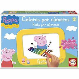 Colorea por numeros peppa pig
