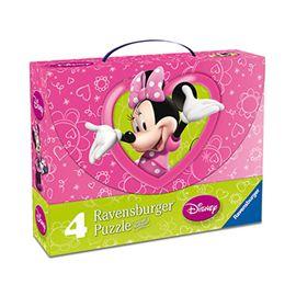 4 puzzle maleta minnie