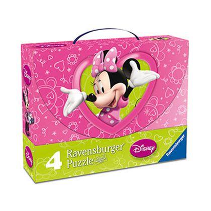 4 puzzle maleta minnie - 26907283