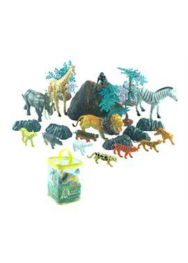 Conjunto animales salvajes en bolsa con 22 pzas - 95900852