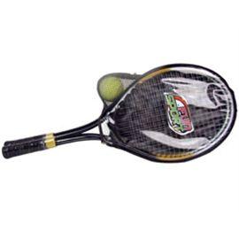 2 raquetas metalicas + 2 pelotas tennis
