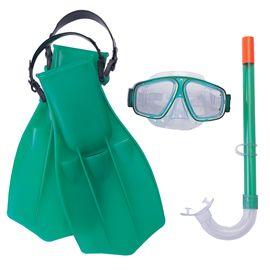 Set de máscara, snorkel y aletas style dive 7-14 a - 86725009