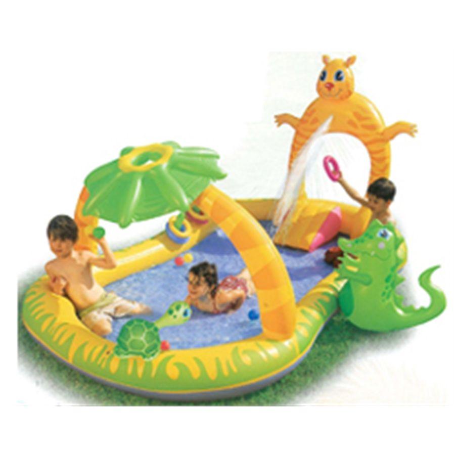 Centro de juegos hinchable jungla 290x170x137 for Piscinas infantiles