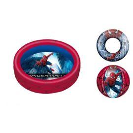 Conj. piscina, flotador y pelota hinch. spider - 94836221