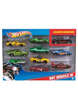 Pack 10 vehiculos hot wheels - 24554886