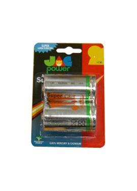 Pack 2 pilas super alcalinas r20 jac - 93620020