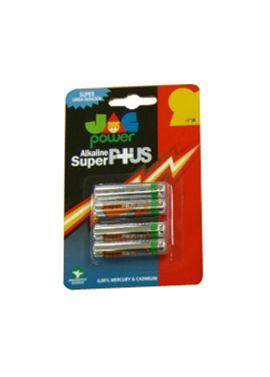 Pack 4 pilas super alcalinas r3 jac - 93620003