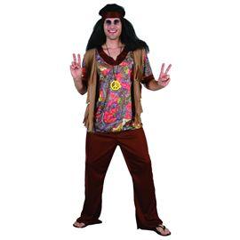 Disfraz hippie hombre talla 52