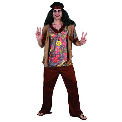 Disfraz hippie hombre talla 52 - 92791230