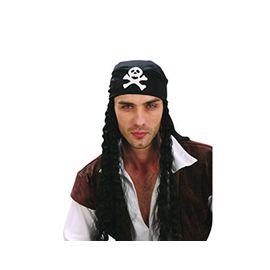 Pañuelo pirata con pelo - 92765101