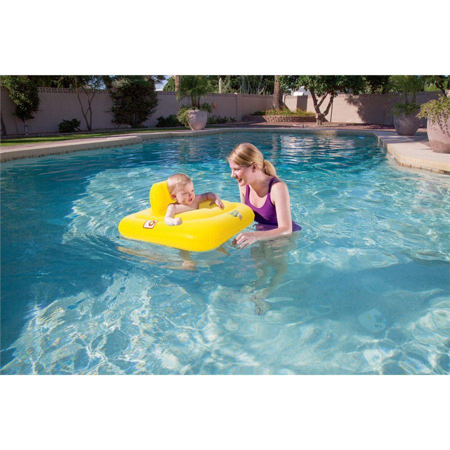 Flotador de aro con asiento swim safe primeros pas for Piscinas hinchables grandes
