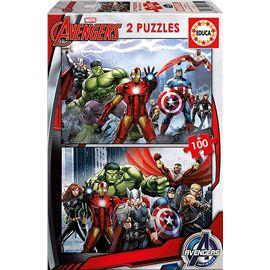 Puzzle 2 x 100 avengers - 04015771