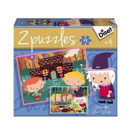 Puzzle contes 2 x 48 la casita de chocolate