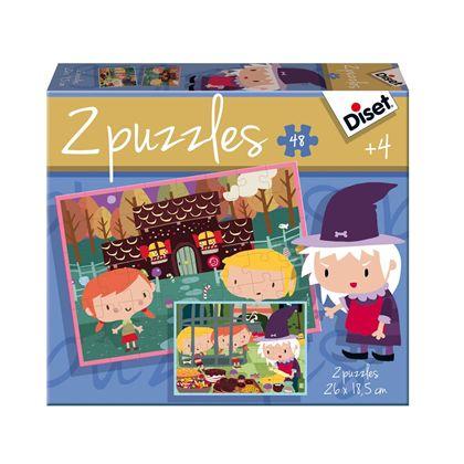 Puzzle contes 2 x 48 la casita de chocolate - 09569963