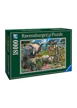 Puzzle 18000 animales en la selva - 26917823
